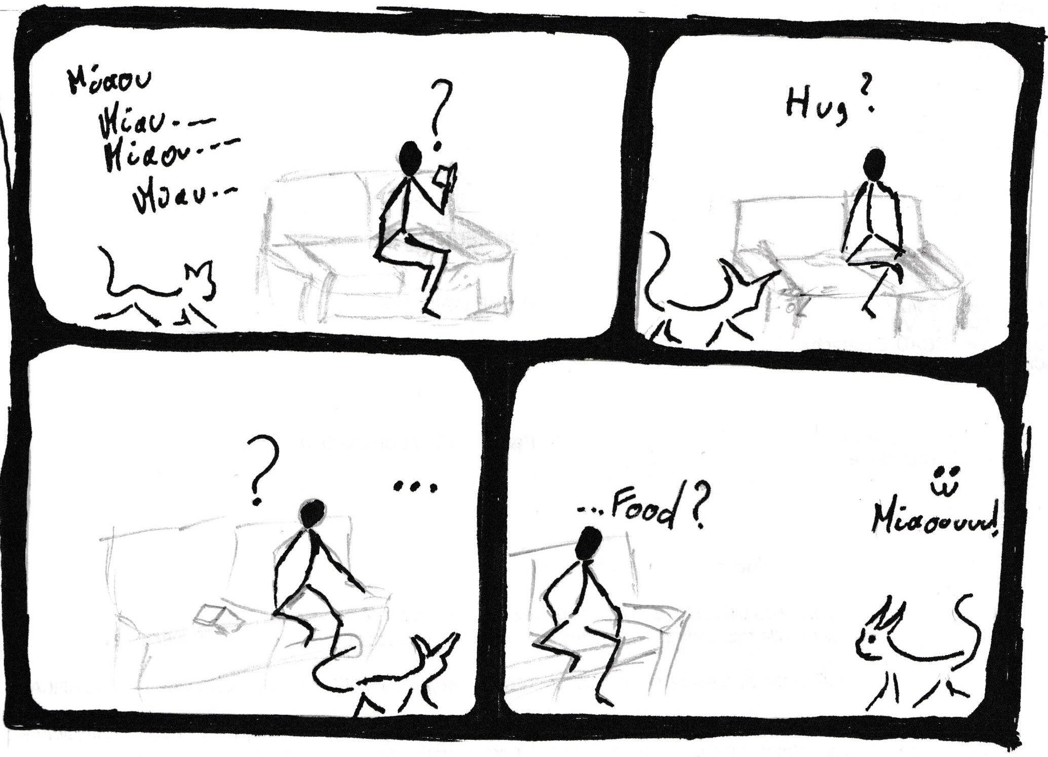 bande dessinée de chaton
